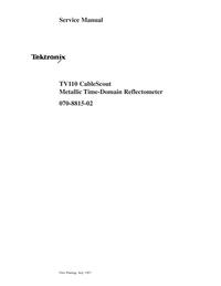 Service Manual Tektronix TV110 CableScout