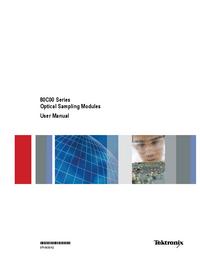 User Manual Tektronix 80C00 Series