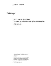 manuel de réparation Tektronix RSA3303A