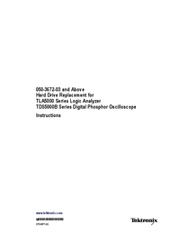User Manual Tektronix TLA5000