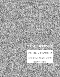 Service Manual Tektronix 7603