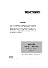 Manual de servicio Tektronix 465B