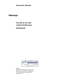 User Manual Tektronix TAS 455