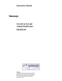 Manuale d'uso Tektronix TAS 455