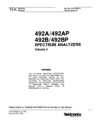 Manual de servicio Tektronix 492BP