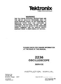 Service Manual Tektronix 2236