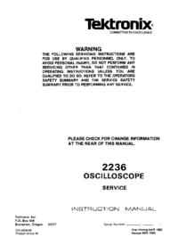 Manuale di servizio Tektronix 2236