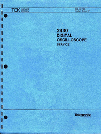 Manual de servicio Tektronix 2430