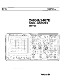 Manual de servicio Tektronix 2467B