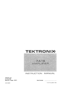 Service Manual Tektronix 7A19