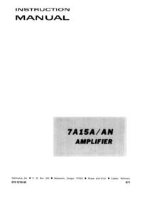 Manuale di servizio Tektronix 7A15A