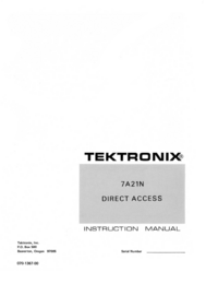 Manual de servicio Tektronix 7A21N
