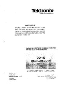 Service and User Manual Tektronix 2215
