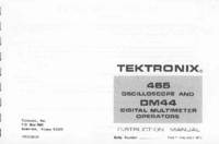 Servicio y Manual del usuario Tektronix DMM44