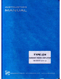 Servicio y Manual del usuario Tektronix 134