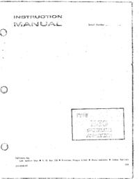 Servicio y Manual del usuario Tektronix 1L30