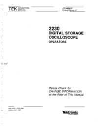 Gebruikershandleiding Tektronix 2230