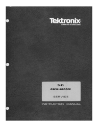 Servicio y Manual del usuario Tektronix 2445