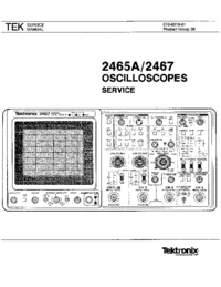 Serwis i User Manual Tektronix 2467