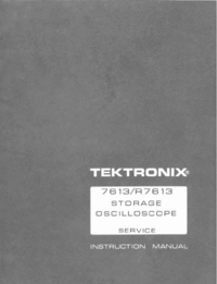 Manual de servicio Tektronix 7613