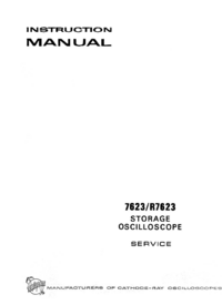 Servicio y Manual del usuario Tektronix 7623