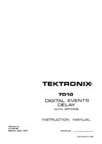 Serwis i User Manual Tektronix 7D110
