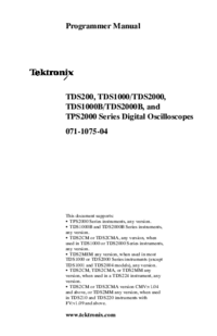 User Manual Tektronix TDS1000B Series