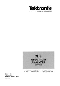 Servicehandboek Tektronix 7L05