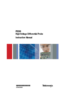 Service Manual Tektronix P5200