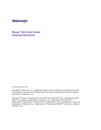 Руководство пользователя Tektronix Phaser 850