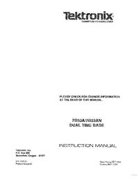 manuel de réparation Tektronix 7B53AN