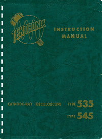 Servicio y Manual del usuario Tektronix 545