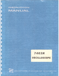 Service and User Manual Tektronix 7403N