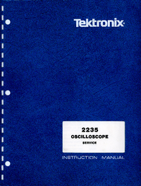 Servicio y Manual del usuario Tektronix 2235