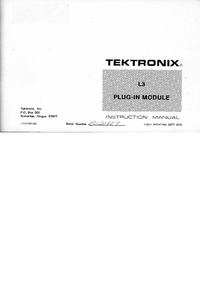 Servicio y Manual del usuario Tektronix L3