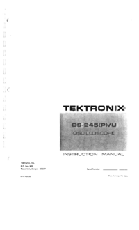Service and User Manual Tektronix OS-245U