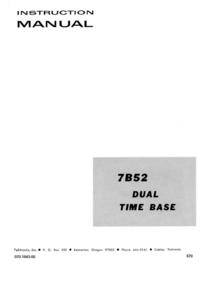 Service- und Bedienungsanleitung Tektronix 7B52