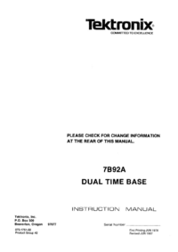 Tektronix-4505-Manual-Page-1-Picture
