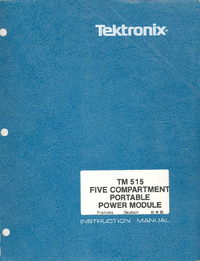 User Manual Tektronix TM515