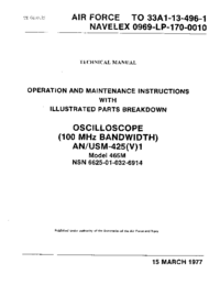 Service and User Manual Tektronix 465M