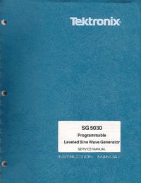 Service and User Manual Tektronix SG 5030