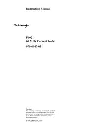 Обслуживание и Руководство пользователя Tektronix P6021