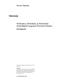 Manual de servicio Tektronix WFM 601A