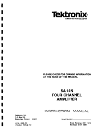 Service and User Manual Tektronix 5A14N