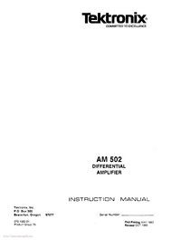 Tektronix-6071-Manual-Page-1-Picture