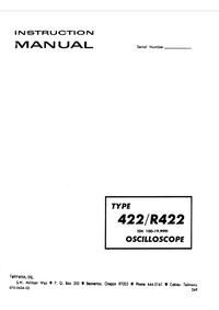 Serwis i User Manual Tektronix R422