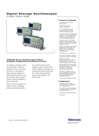 Datenblatt Tektronix TPS2012
