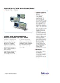 Hoja de datos Tektronix TPS2012