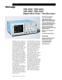 Fiche technique Tektronix TDS 684C
