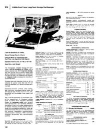 Datasheet Tektronix 314